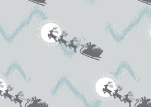 C1.1 - Santa's sleigh on silver