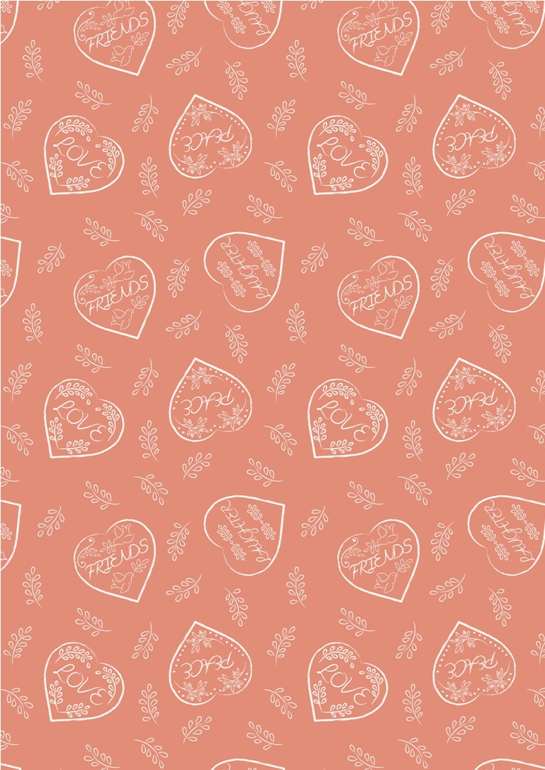 A166.2 - Chalk hearts on blush
