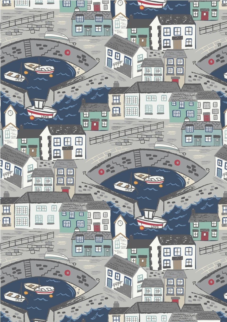 A175.3 - Harbour with navy blue sea