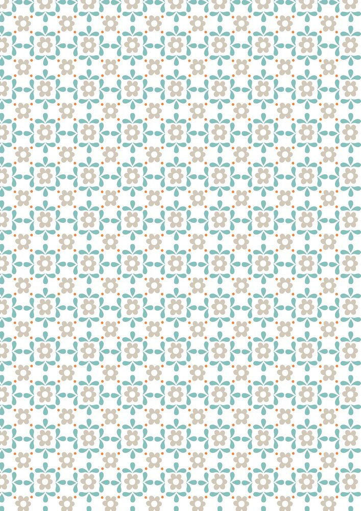 A106.3 - Blue daisy on white