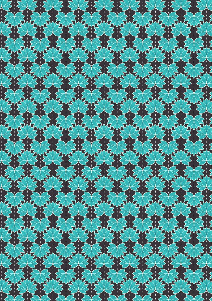 A119.3 - Turquoise lotus flower