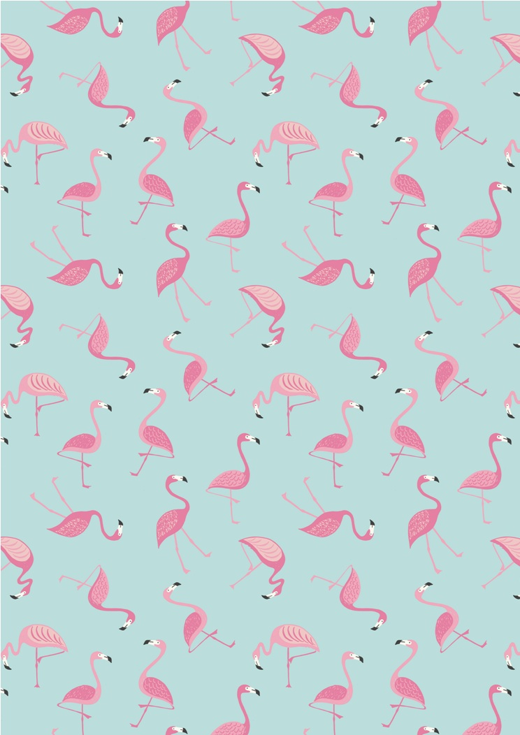 A133.3 - Flamingo on blue