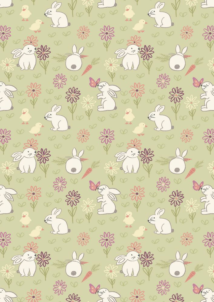 A148.2 - Bunny adventure on pale green