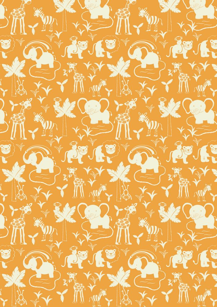 A51.1 - Safari animals on orange