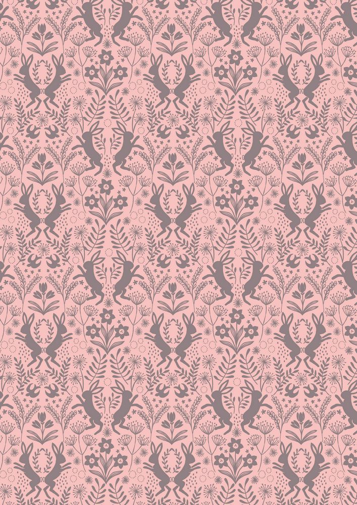 A64.2 - Little hares on pink