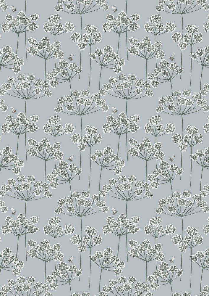 A95.1 - Cow parsley & bee on country blue