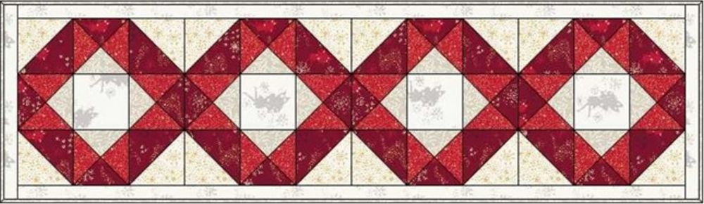 Make a christmas wish table runner and mat design 3