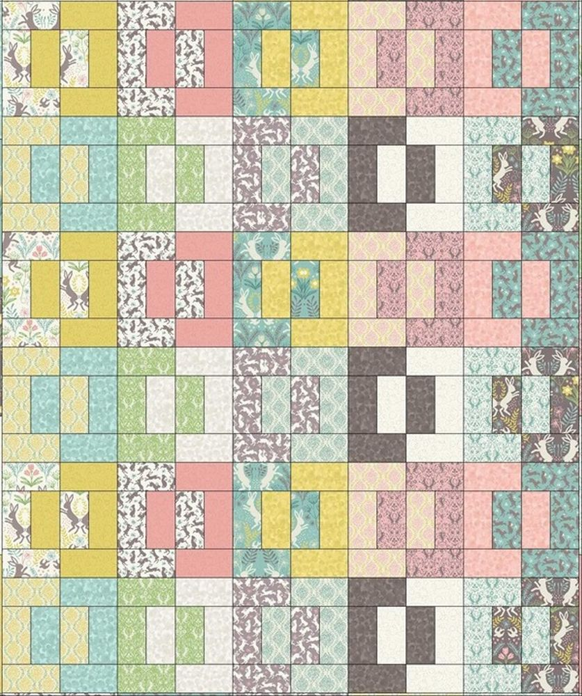 Spring hare quilt