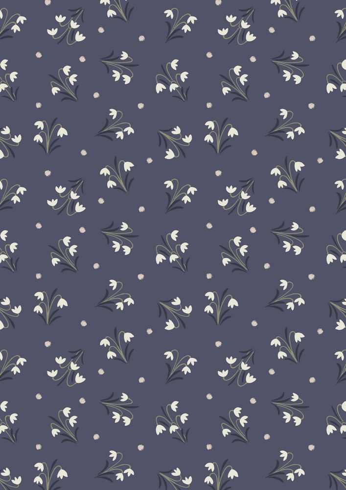A186.3 - Snowdrops on midnight blue