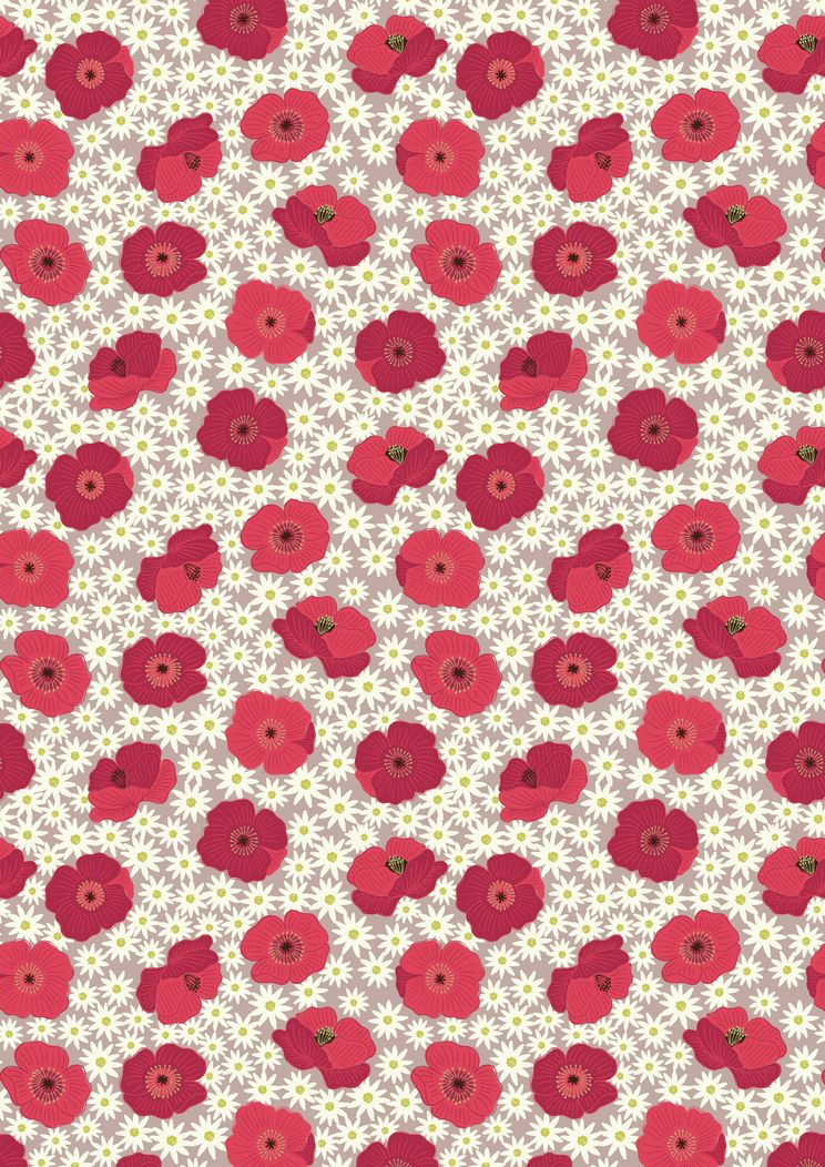 A197.2 - Red Poppy on natural