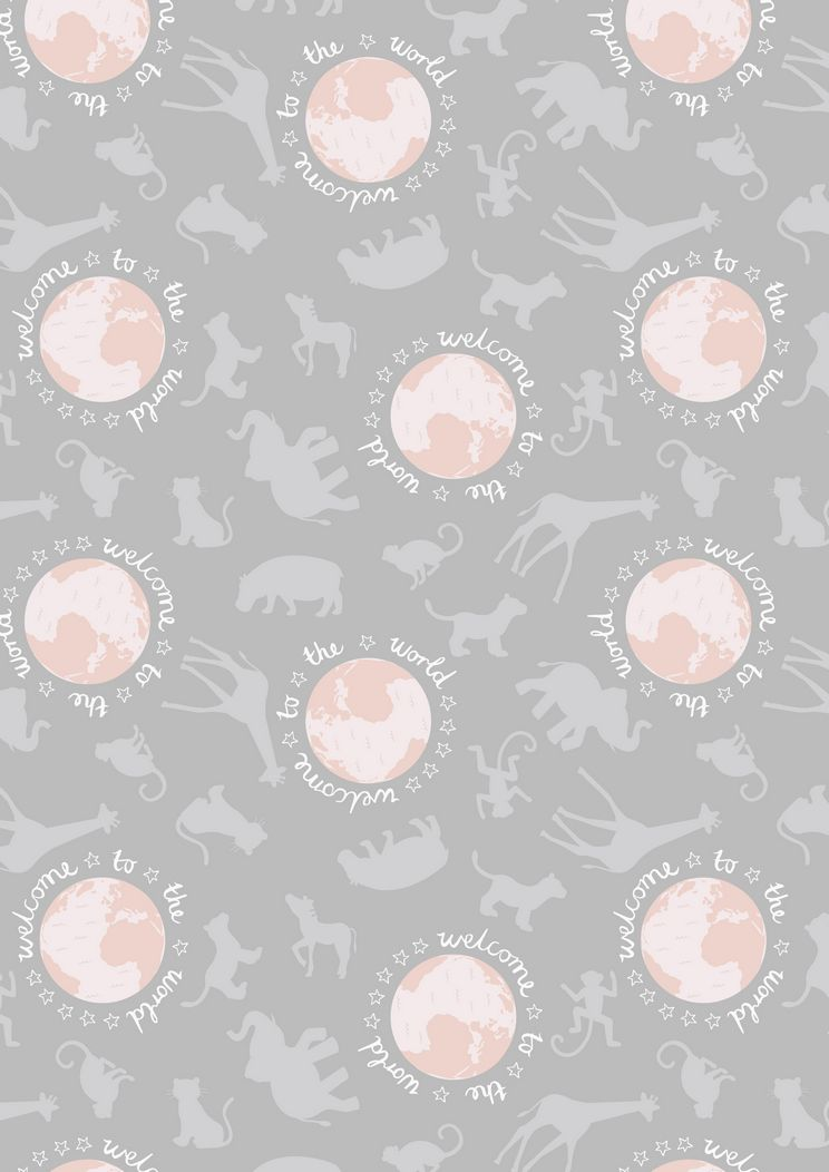 A218.3 - Welcome to the world pink on grey