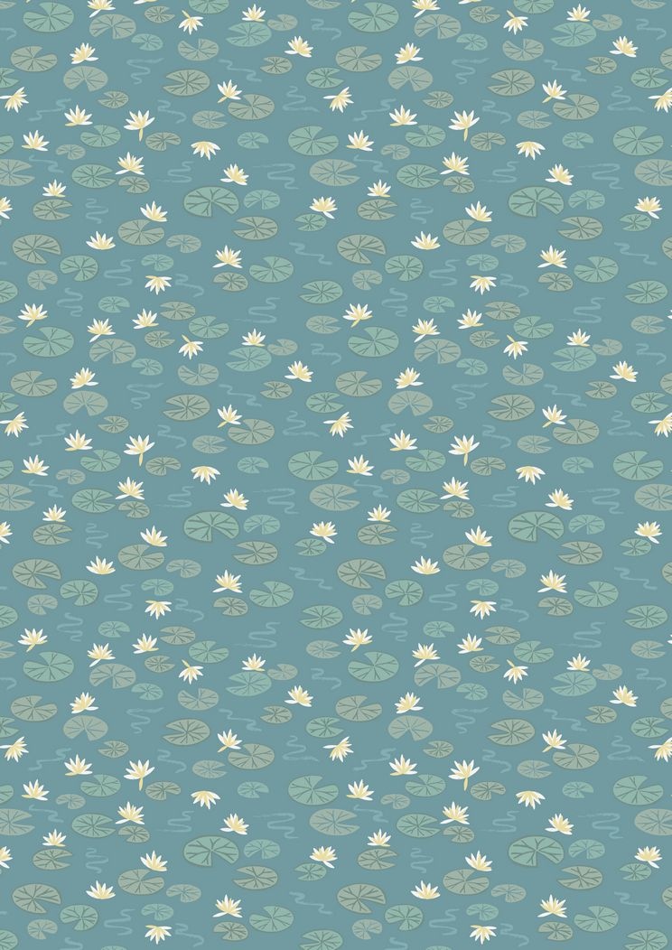 A223.2 - Lily pads on teal