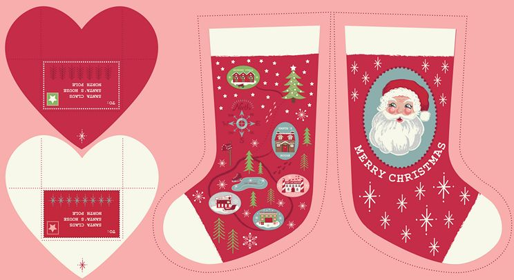 C22.3 - Red North Pole Stockings