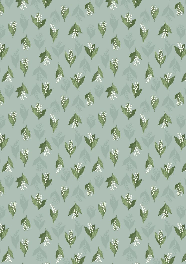 FLO11.3 - Lily of the Valley on duck egg