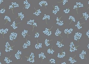 FLO8.1 - Forget-me-nots on grey
