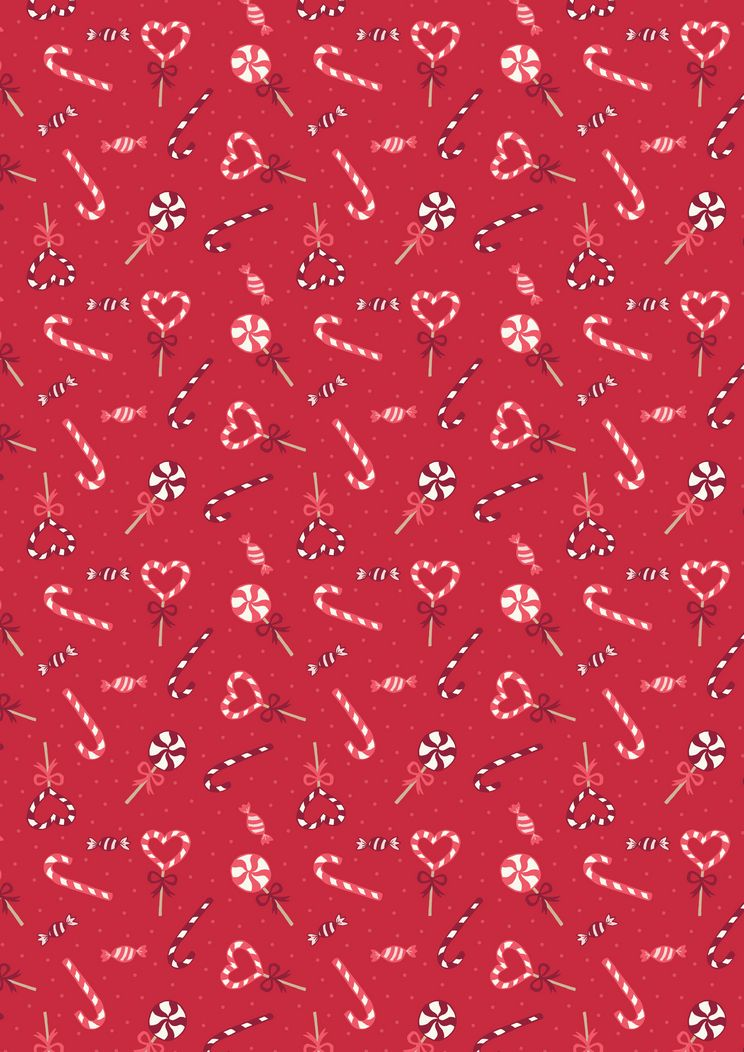 SMC7.3 - Candy canes on red