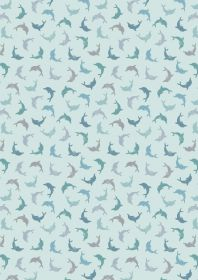 A257.2 -Twirling dolphins on blue