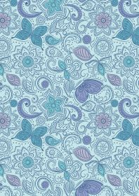 A261.3 - Floral flow on blissful blue