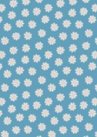 A264.3 - Flower mandalas on blue
