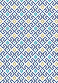 A267.3 - Dark blue Greek tiles with gold