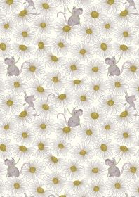 A271.1 - Little mouse & daisies on cream