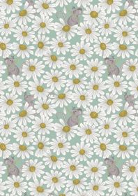 A271.2 - Little mouse & daisies on duck egg