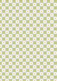 A274.1 - Retro daisy on palest grey