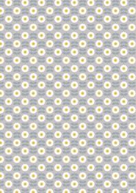 A274.2 - Retro daisy on mid grey