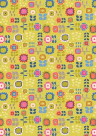 A279.2 - Summer flowers on yellow