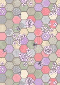 A283.1 - Bee hexagons natural