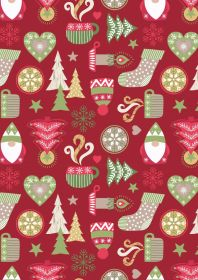 C26.2 - Hygge Christmas on red