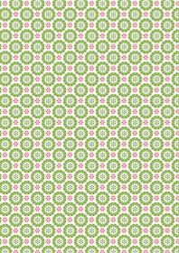 C27.2 - Heart snowflakes christmas green