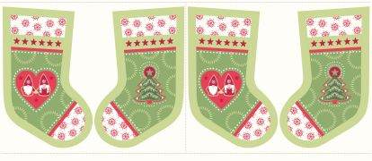 C31.2 - Hygge stockings Christmas green