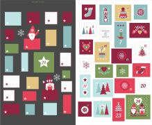 C32.3 -Hygge Christmas Advent Calender slate