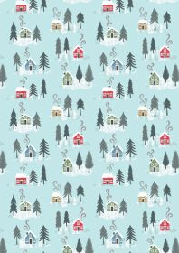 C36.2 - Snow day houses on icy blue