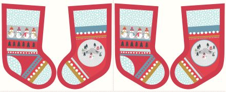 C39.3 - Snow day stockings red