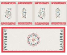 C40.1 - Snow day table centre & placemats cream