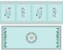 C40.3 - Snow day table centre & placemats silver