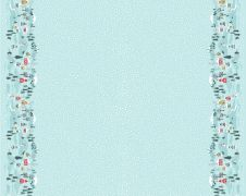 C41.3 - Snow day double border icy blue