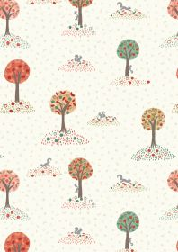 A299.1 Squirrel orchard on cream