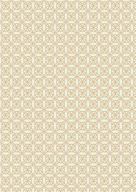 A334.1 Cream celtic knot with gold metallic