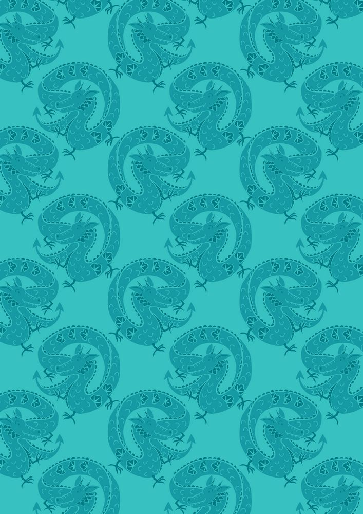 A117.1 - Turquoise lucky dragon