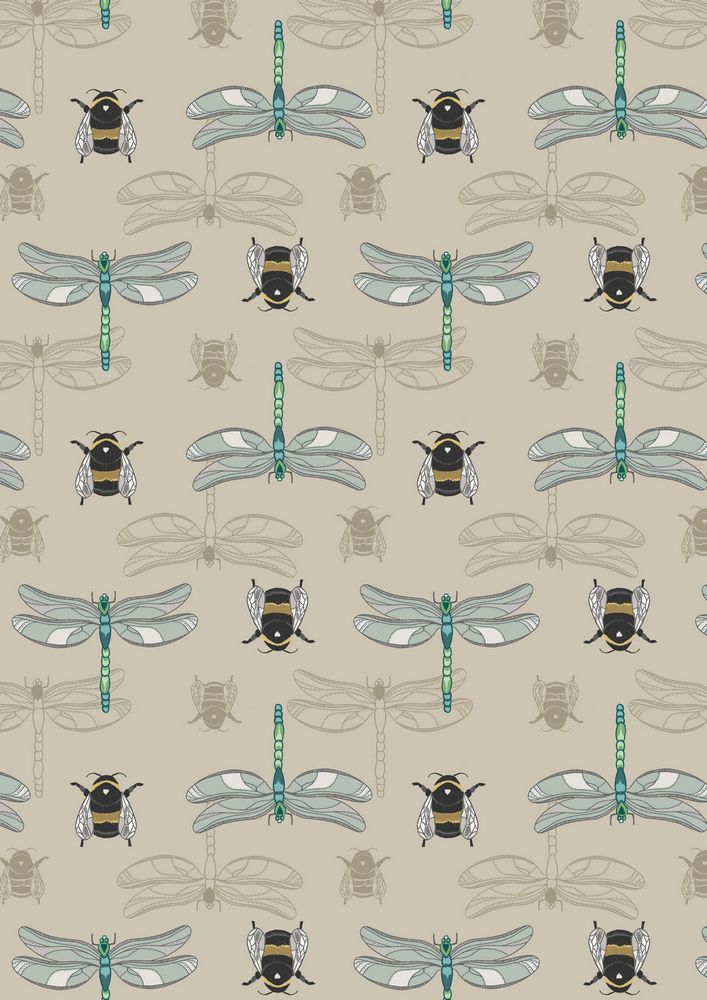 A123.2 - Natural dragonfly & bee