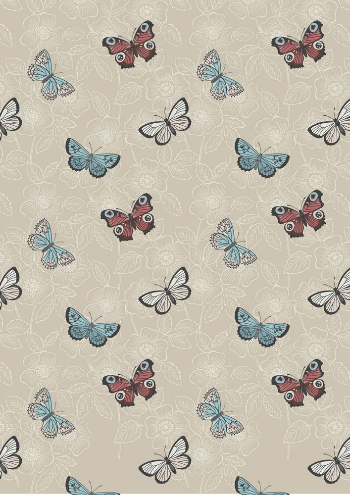 A125.2 - Natural butterfly sketch