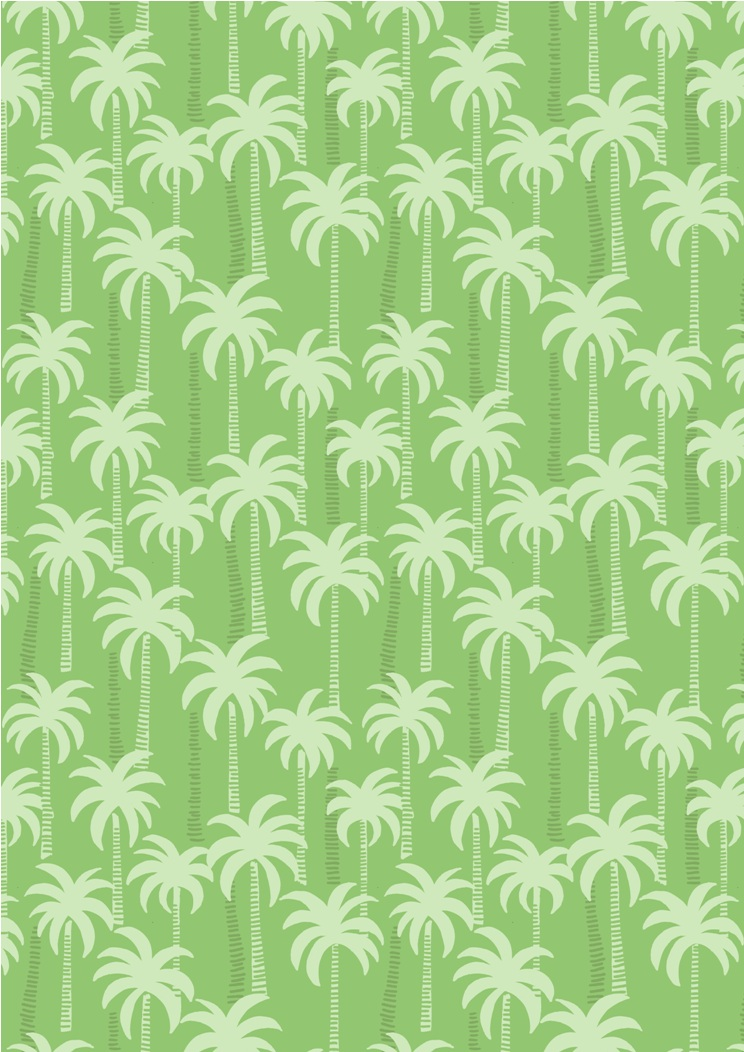 A132.3 - Palm trees on green