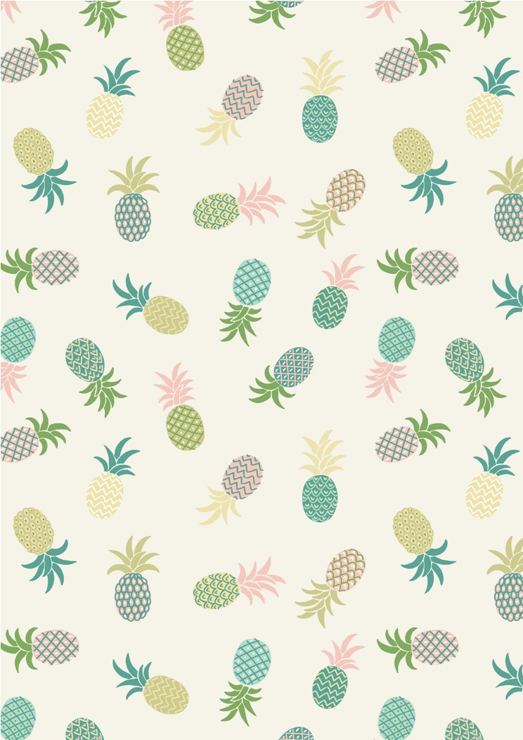 A134.1 - Pineapples on white