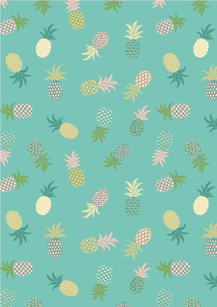 A134.2 - Pineaples on turquoise