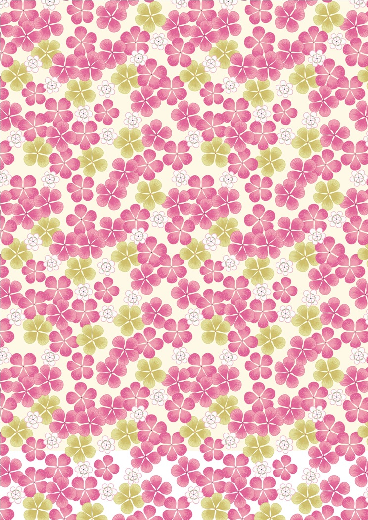 A135.3 - Pink tropical flowers