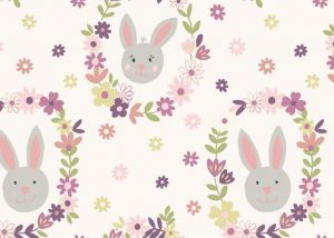 A146.1 - Bunny wreath white