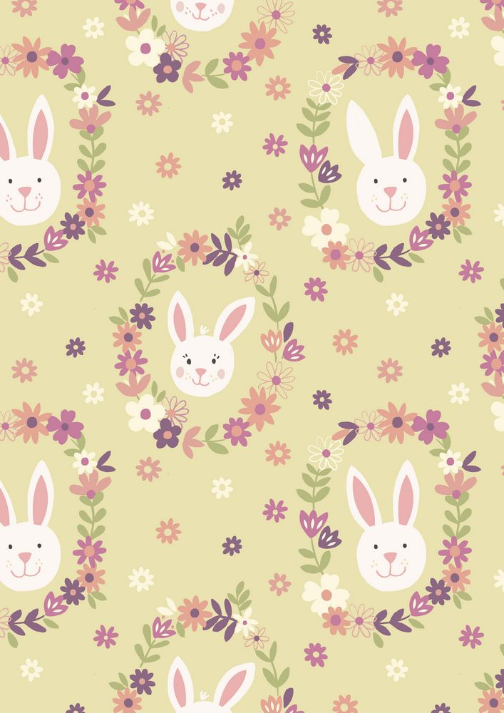 A146.3 - Bunny wreath on sunshine